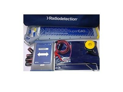 Radiodetection RD2000 SuperC.A.T + w/RD2000T1-640 Underground Cable Pipe Locate
