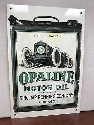 Sunclair Opaline Oil Gasoline Racing Gas man cave  vintage sign Can 18x12