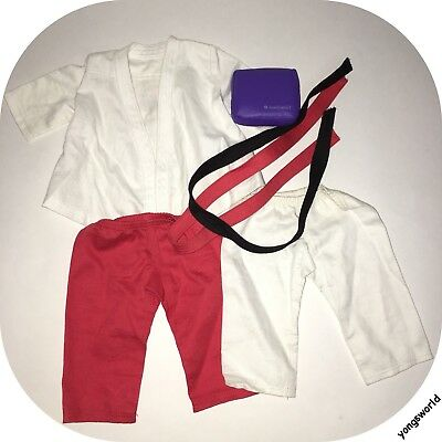 Pleasant Company American Girl 2007 Karate Training Set Outfit Pad Belt Lot