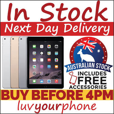 Apple iPad Air 2 16GB 32GB 64GB 128GB Grey Gold Silver Wi-Fi + 4G AU Model