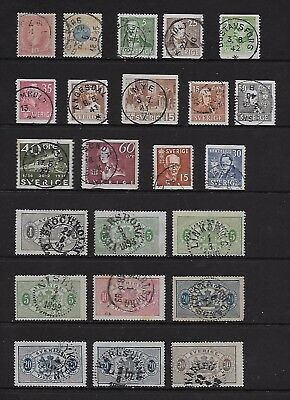SWEDEN good early used postal & BoB collection (23)