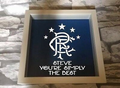 Glasgow Rangers Frame Personalised