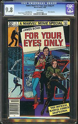 James Bond For Your Eyes Only #1 CGC 9.8 NM/MT Marvel Comics Movie 007 Hama