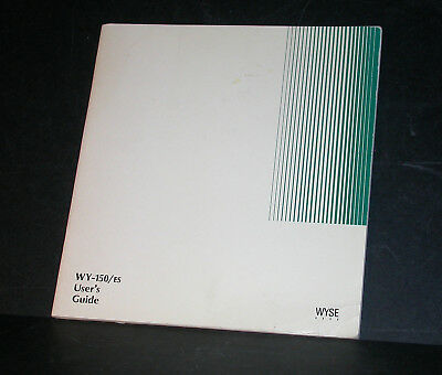 WYSE 150 / ES Terminal User's Guide 1991