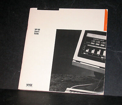 WYSE 60 Terminal User's Guide 1986