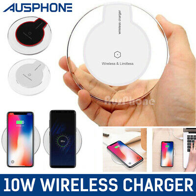 iPhone 8 8 PLUS X QI Wireless fast Charger Charging Pad Mat Receiver For APPLE
