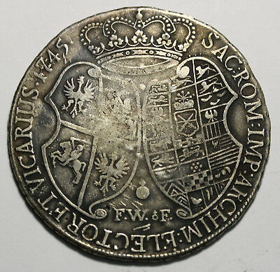 1745 FWoF German States SAXONY-ALBERTINE Thaler KM# 914 Contemporary Forgerry