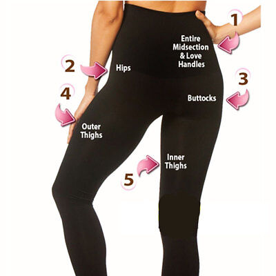 f834f397b4 LADIES WOMENS HIGH Waist Leggings Full Length Seamless Slimming Shapewear  Leggy