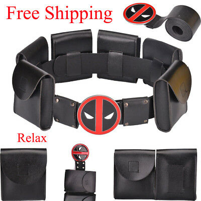 Deadpool X-Men Superhero Metal Belt Kid Adult Halloween Cosplay  Costume Gift