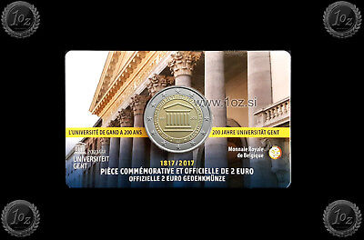 BELGIUM 2 EURO 2017 (University of GHENT) Commemorative French Coincard * UNC