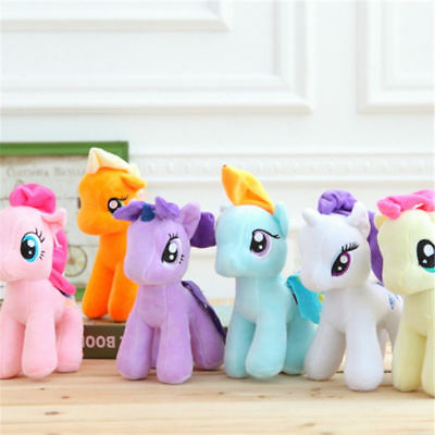 Purple 15cm / 5.9in. Pony doll stuffed Toys Horse Gift For Kids Cute little Xmas