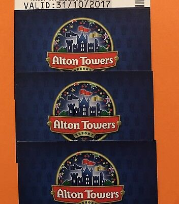 31st October Scarefest Halloween 4 X Alton Towers Tickets , Park Open 10-9pm