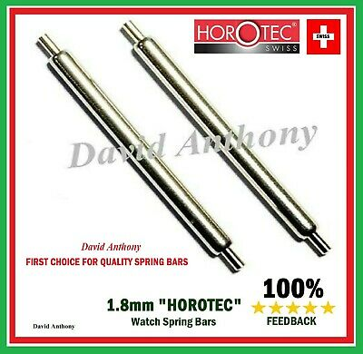 """SWISS DIVERS WATCH """"HOROTEC"""" 1.8mm THICK SPRING BARS 2mm LONG PIVOT. 18mm - 22mm"""