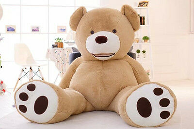 260cm Giant big uk teddy bear cover no cotton plush toys doll with zipper gift