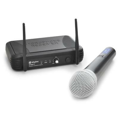 Wireless Microphone Cordless Radio Mic Set Uhf Receiver * Free P&p Special Offer