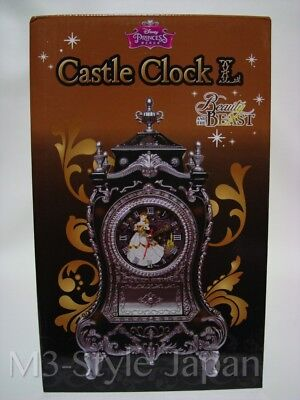 Disney Princess Beauty and the Beast Belle Castle Clock L Japan Import F/S