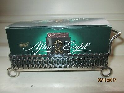 after eight silver plate holder