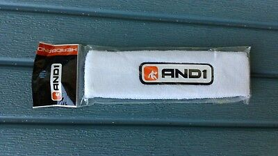 FASCIA HEADBAND AND 1 ONE  running basket tennis spugna unisex BIANCO