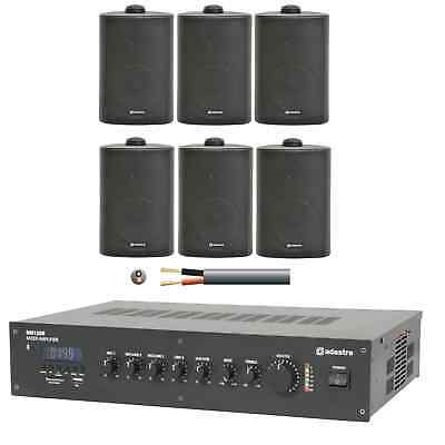 Adastra 6 Speaker Background Music System for Restaurants, Offices and Shops