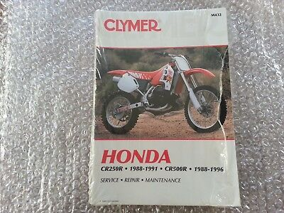 Clymer Honda CR250R 1988-1991 CR500 1988-1996 Service Workshop Manual M432
