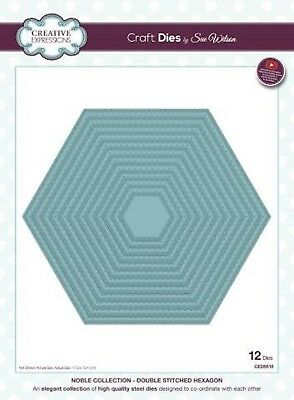 Noble Collection Double Stitched Hexagon Die Creative Expressions CED5518