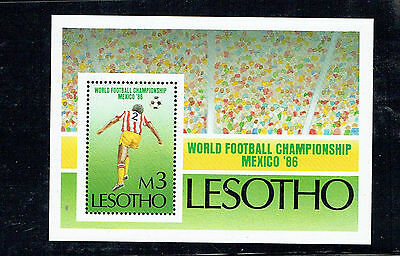 LESOTHO 1986 World Cup Football MS Mint