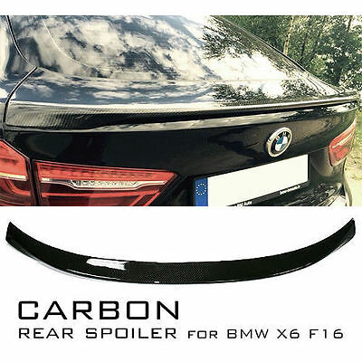 Dry Carbon fiber M Performance Look Rear Wing trunk Spoiler for BMW X6 F16