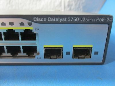 Cisco Catalyst WS-C3750V2-24PS-S 24-Ports Switch Layer 3 Stackable - USED