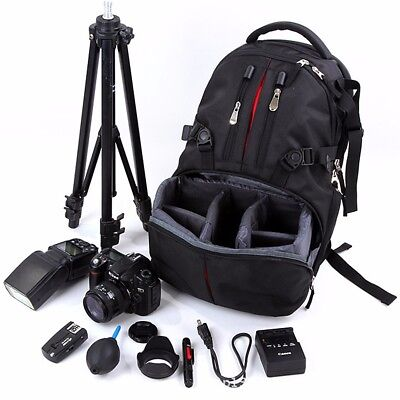 Waterproof Large Backpack Bag Case for Camera Lens DSLR Canon EOS Nikon Sony