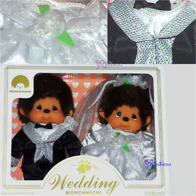 Sekiguchi Monchhichi M Size MCC Plush Western Wedding Couple Box Set