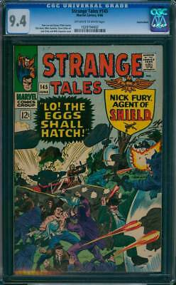 Strange Tales # 145  Lo ! The Eggs Shall Hatch !  CGC 9.4  scarce book!