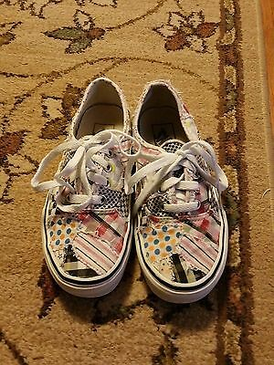Authentic Vans Off The Wall Canvas Sneakers~Patchwork~Womens 5.5~Skate Shoes