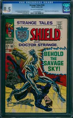 Strange Tales # 165  Behold the Savage Sky !  CGC 8.5  scarce book!