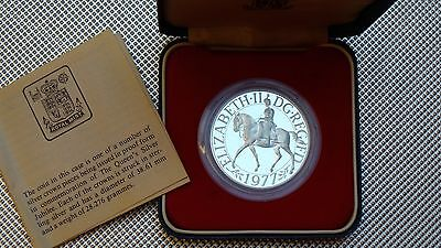 1977 Royal Mint Silver Jubilee Crown 925 Silver Cased & Coa