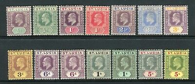 ST LUCIA-1904-10  A mounted mint set to 5/- Sg 64-77