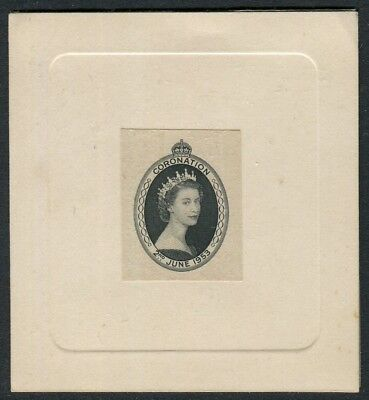 SEYCHELLES- 1953 Coronation Die Proof.  A superb example