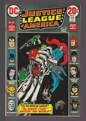 Justice League of America # 101 Hand that Shook the World ! grade 7.5 scarce !