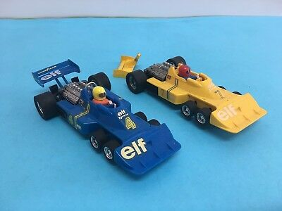 LOTE 2 TYRRELL FORD P-34 6 RUEDAS SCALEXTRIC EXIN REF 4054 tyrrell p-34 scx exin