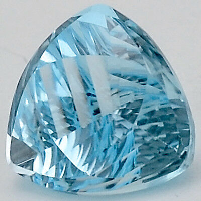 8.35 Cts Natural Sky Blue Topaz 12X12 mm Round Cut Loose GemstoneDG167SY