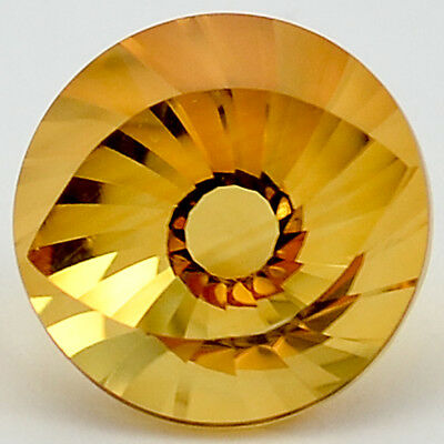 6.9 Cts Natural Citrine 12X12 mm Round Cut Loose GemstoneDG302CT