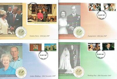 48 Royal Wedding Anniversary First Day Covers 1997 from the British Commonwealth