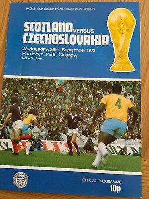 Scotland V Czechoslovakia  26.9.73 Wc  Fully Signed By Scotland Team/pool