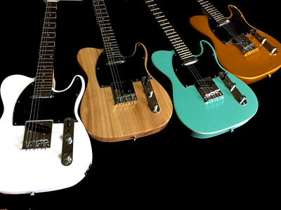 6 String Tele Style Solid Body Lightweight Electric Guitar Vintage Colors