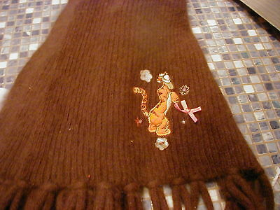 Disney Store Tigger Soft Angora Brown Scarf Brand New Very Rare Last One