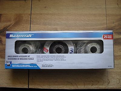 """Mastercraft Angle Grinder 25-pc. Accessory Kit for 4-1/2"""" Angle Grinders"""