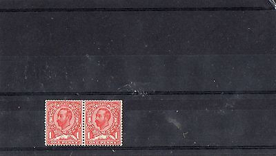 King George V 1911-12 1d pair die b inverted wmk fresh un mounted mint