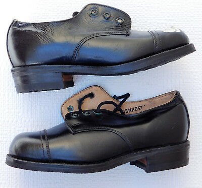 Vintage leather shoes Boys school childs size 10 UNUSED Signpost Goodyear soles