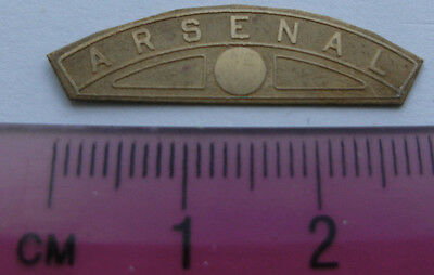 Model Railway Brass Nameplate Arsenal