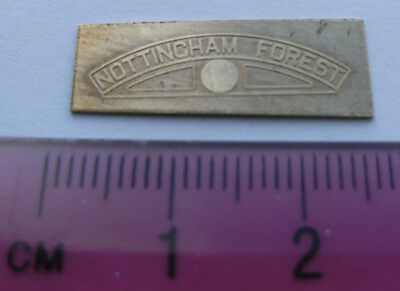 Model Railway Brass Nameplate Nottingham Forest