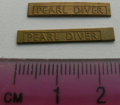 Model Railway Brass Nameplate Pearl Diver (Pair)